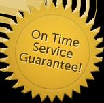 on time guarantee logo